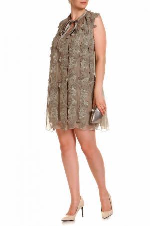 Платье Alberta Ferretti. Цвет: серый