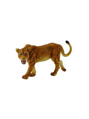 Львица, L 12 см Collecta. Цвет: рыжий