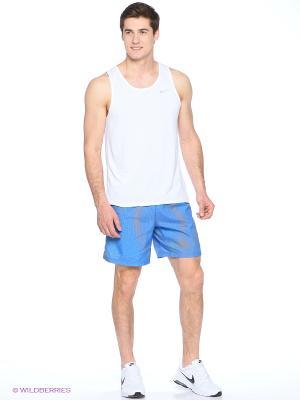 Шорты 7 DISTANCE PRINTED SHORT Nike. Цвет: синий, оранжевый