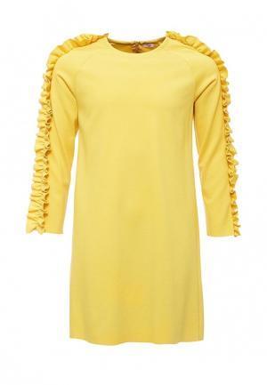Платье Il Gufo. Цвет: желтый