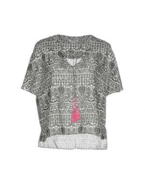 Блузка 100X200 CENTOXDUECENTO. Цвет: черный