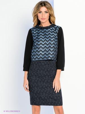Платье Personage. Цвет: черный, голубой