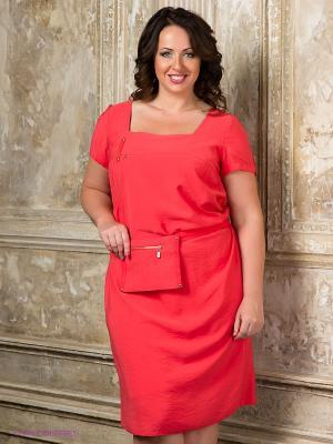 Платье Gemko plus size. Цвет: красный