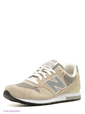 Кроссовки NEW BALANCE 996. Цвет: оливковый, белый, серый