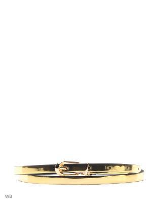 Пояс MARBI. Цвет: золотистый