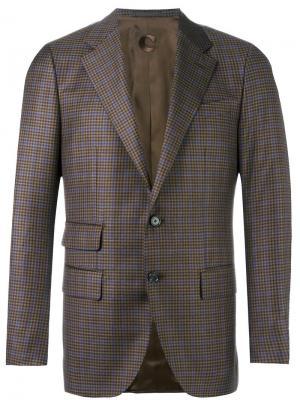 Checked blazer Caruso. Цвет: коричневый