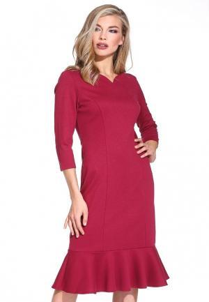 Платье Gloss. Цвет: бордовый