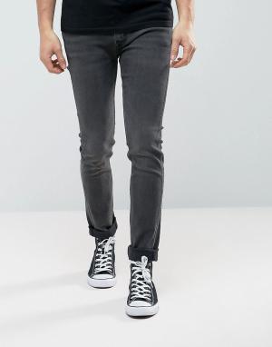 Levis Line 8 Серые джинсы скинни Commission. Цвет: серый