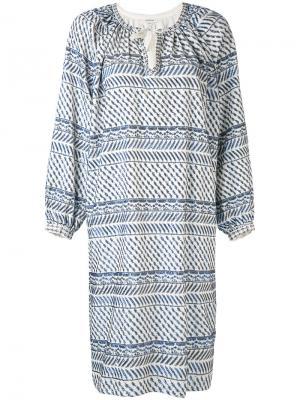 Платье с вышивкой из пайеток Manoush. Цвет: белый