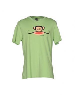 Футболка PAUL FRANK. Цвет: светло-зеленый
