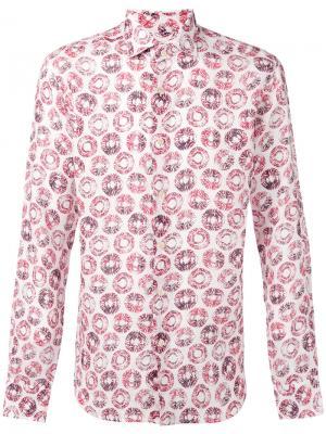 Рубашка с абстрактным принтом Xacus. Цвет: белый