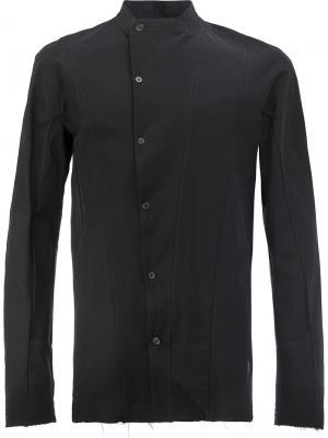Узкая рубашка со смещенной застежкой Masnada. Цвет: чёрный