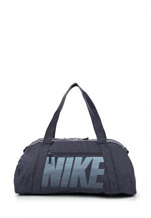 Сумка спортивная Nike. Цвет: синий