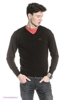Пуловер Think Pink. Цвет: темно-коричневый