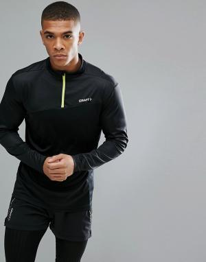Craft Черный свитшот с молнией Sportswear Radiate Running 1905387-9996. Цвет: черный