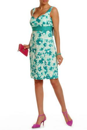 Платье Luisa Spagnoli. Цвет: зеленый