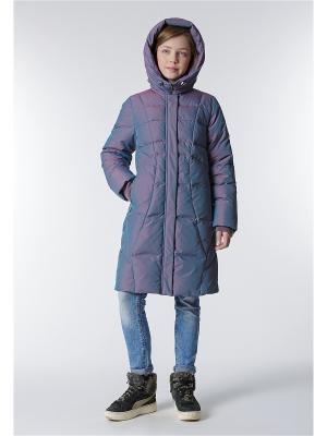 Пальто D`imma. Цвет: сиреневый