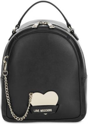 Черный рюкзак со съемным зеркалом Love Moschino. Цвет: черный