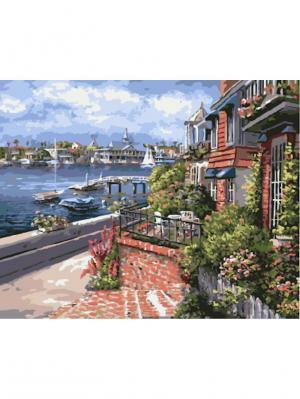 Картины по номерам На берегу Средиземного моря Сун Сэм Парка Цветной. Цвет: белый