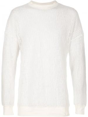 Прозрачный свитер Rochambeau. Цвет: белый