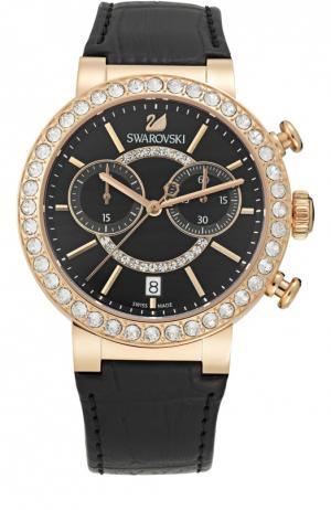 Наручные часы Citra Sphere Chrono Swarovski. Цвет: черный