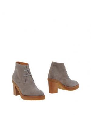 Полусапоги и высокие ботинки VERONIQUE BRANQUINHO. Цвет: серый