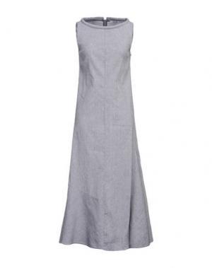 Длинное платье OBLIQUE CREATIONS. Цвет: серый
