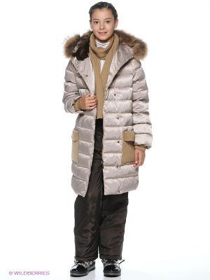 Пальто Жанна Аксарт. Цвет: светло-коричневый