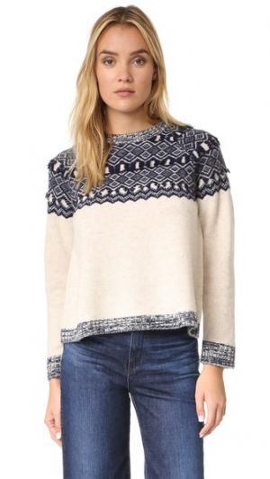 Пуловер  Too с жаккардовым узором Clu. Цвет: темно-синий