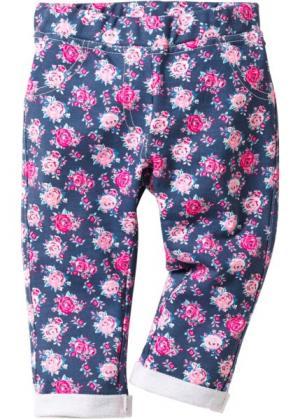 Трикотажные брюки (индиго с рисунком) bonprix. Цвет: индиго с рисунком