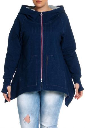 Куртка EVA Collection. Цвет: деним с розовым