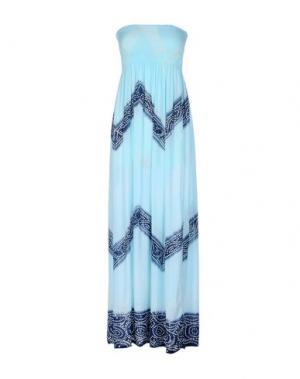 Длинное платье COOLCHANGE. Цвет: небесно-голубой