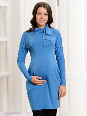Платье UNIOSTAR. Цвет: голубой