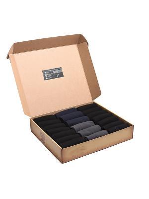 Набор носков Бизнес Микс 11 в кейсе 20 пар, с сургучной печатью. NosMag. Цвет: черный, темно-синий, антрацитовый