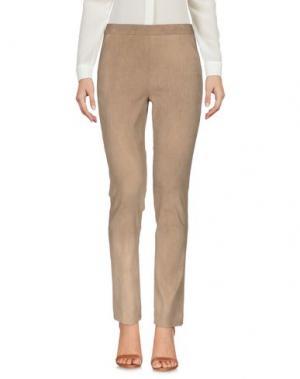 Повседневные брюки DONNA KARAN. Цвет: верблюжий