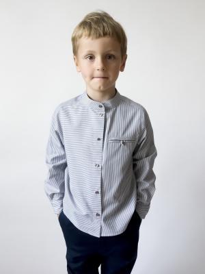 Рубашка Самостоятельная Sardina Baby. Цвет: серый, белый