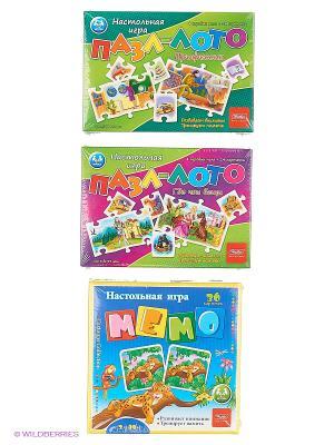 Комплект Игры с кубиками и фишками №1 (3 вида) Издательство Хатбер-пресс. Цвет: белый