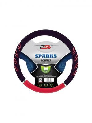 Оплётка на руль PSV SPARKS (Красный M). Цвет: красный