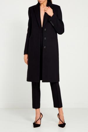 Однобортное черное пальто Gucci. Цвет: none