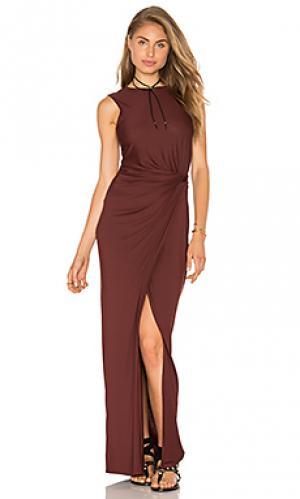 Макси платье twist Lenny Niemeyer. Цвет: коричневый