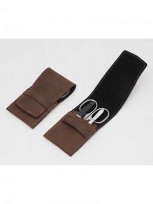 Маникюрный набор Dovo. Цвет: коричневый