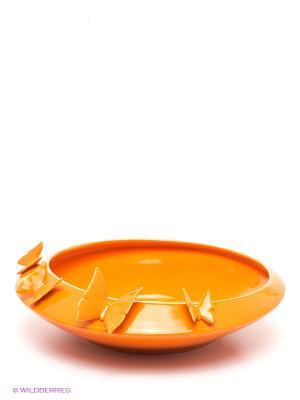 Ваза для фруктов Бабочки Pavone. Цвет: оранжевый
