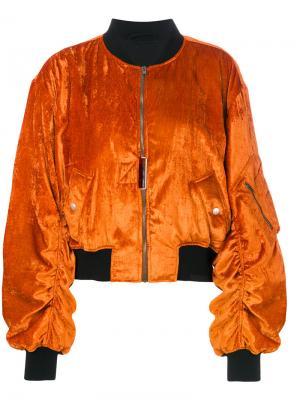 Куртка-бомбер Jytte Damir Doma. Цвет: жёлтый и оранжевый