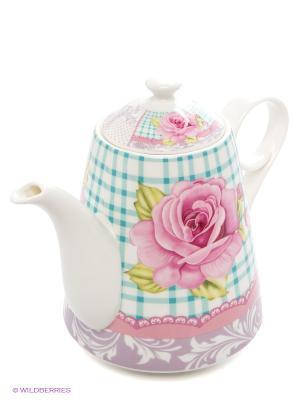 Чайник заварочный, 1,1 л LORAINE. Цвет: розовый, белый, голубой