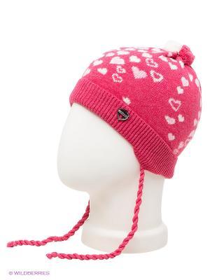 Шапка ELFE. Цвет: розовый
