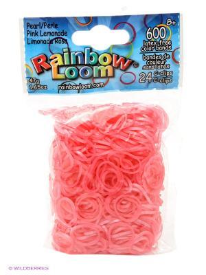 Резинки Розовый Лимонад Перламутр RAINBOWLOOM. Цвет: розовый