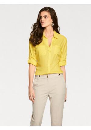 Блузка PATRIZIA DINI by Heine. Цвет: желтый, молочно-белый, песочный