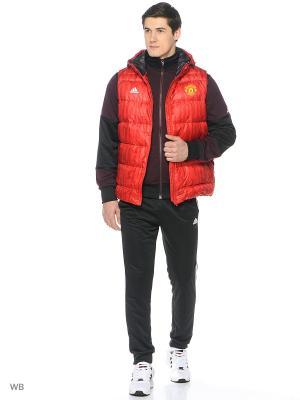 Жилет Manchester United Down Vest Adidas. Цвет: красный