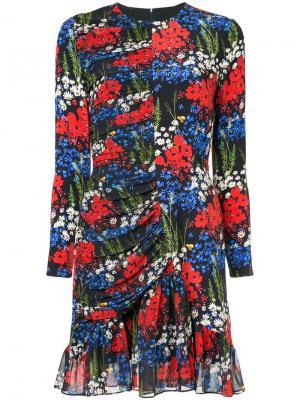 Платье с цветочным принтом Peggy Mother Of Pearl. Цвет: чёрный