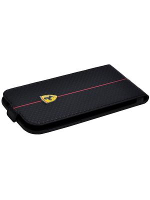 Чехол Ferrari для iPhone 6/6S Formula One Flip Black. Цвет: черный